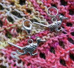 new mecico roadrunner stitch marker charms for knitting and crochet