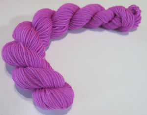 solid purple 20g mini skein for sock and shawl knitting