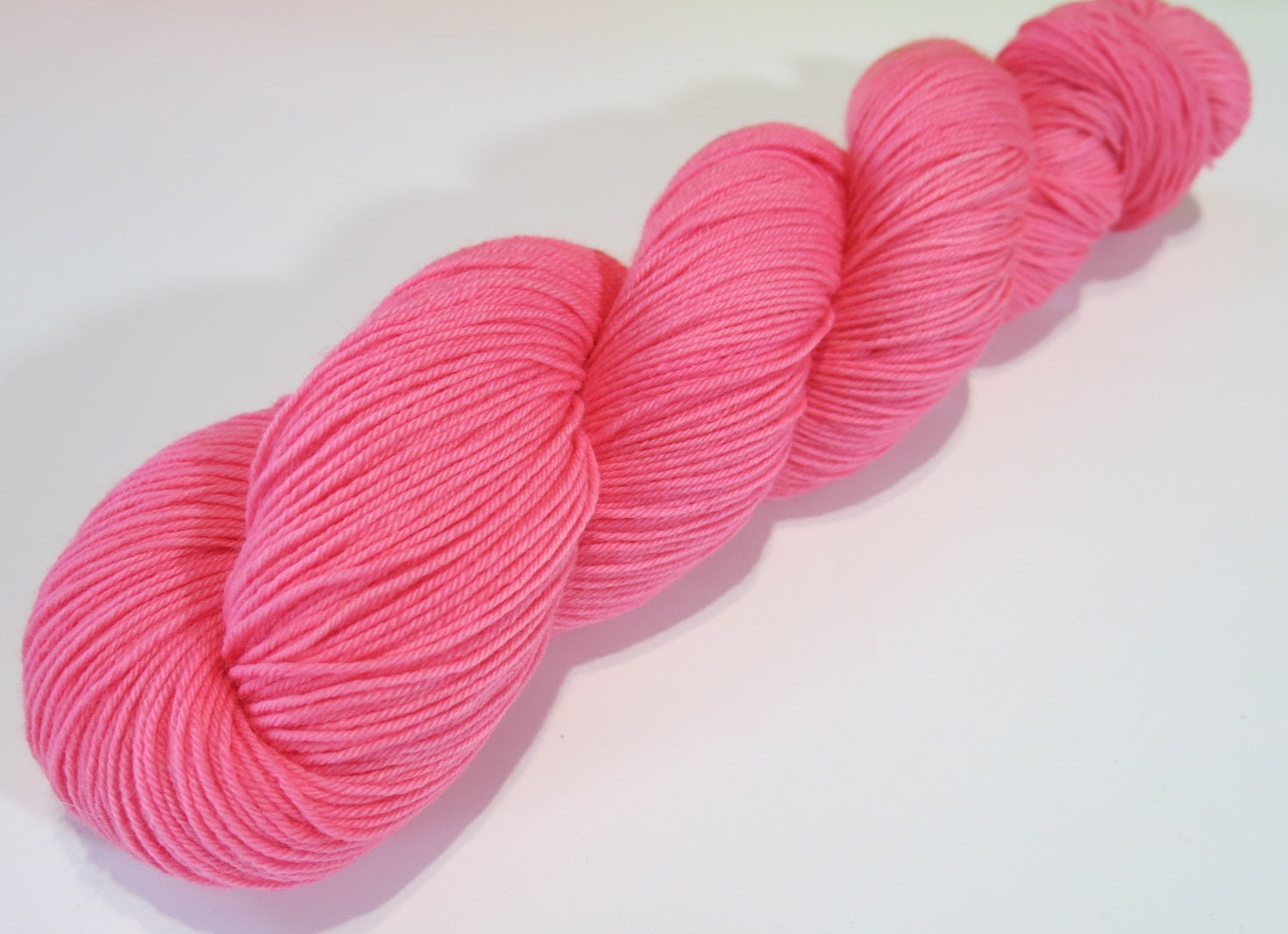 bubble gum pink solid sock yarn for knitting and crochet