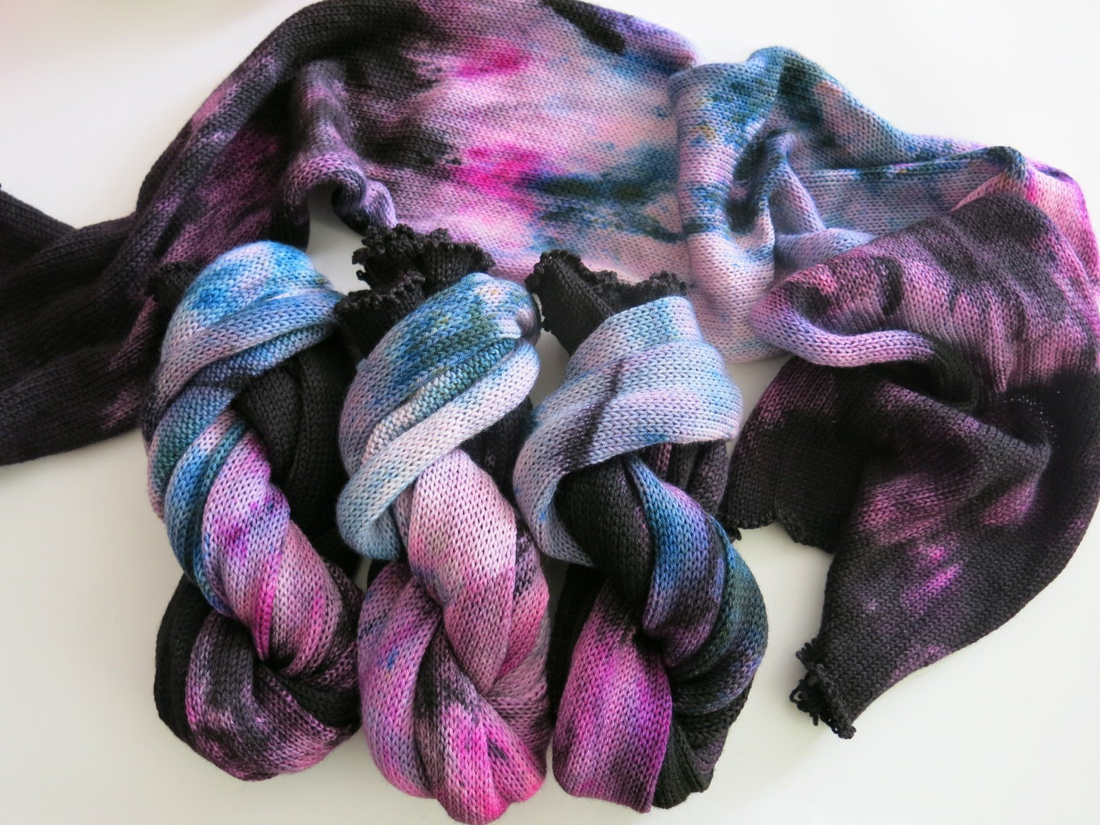 indie dyed gradient sock blank for knitting and crochet