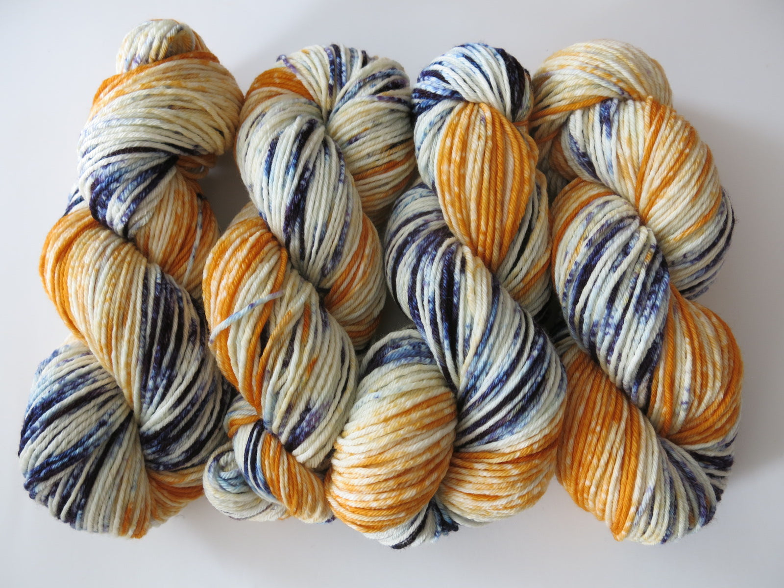 indie dyed 115g skeins of merino aran yarn for knitting and crochet