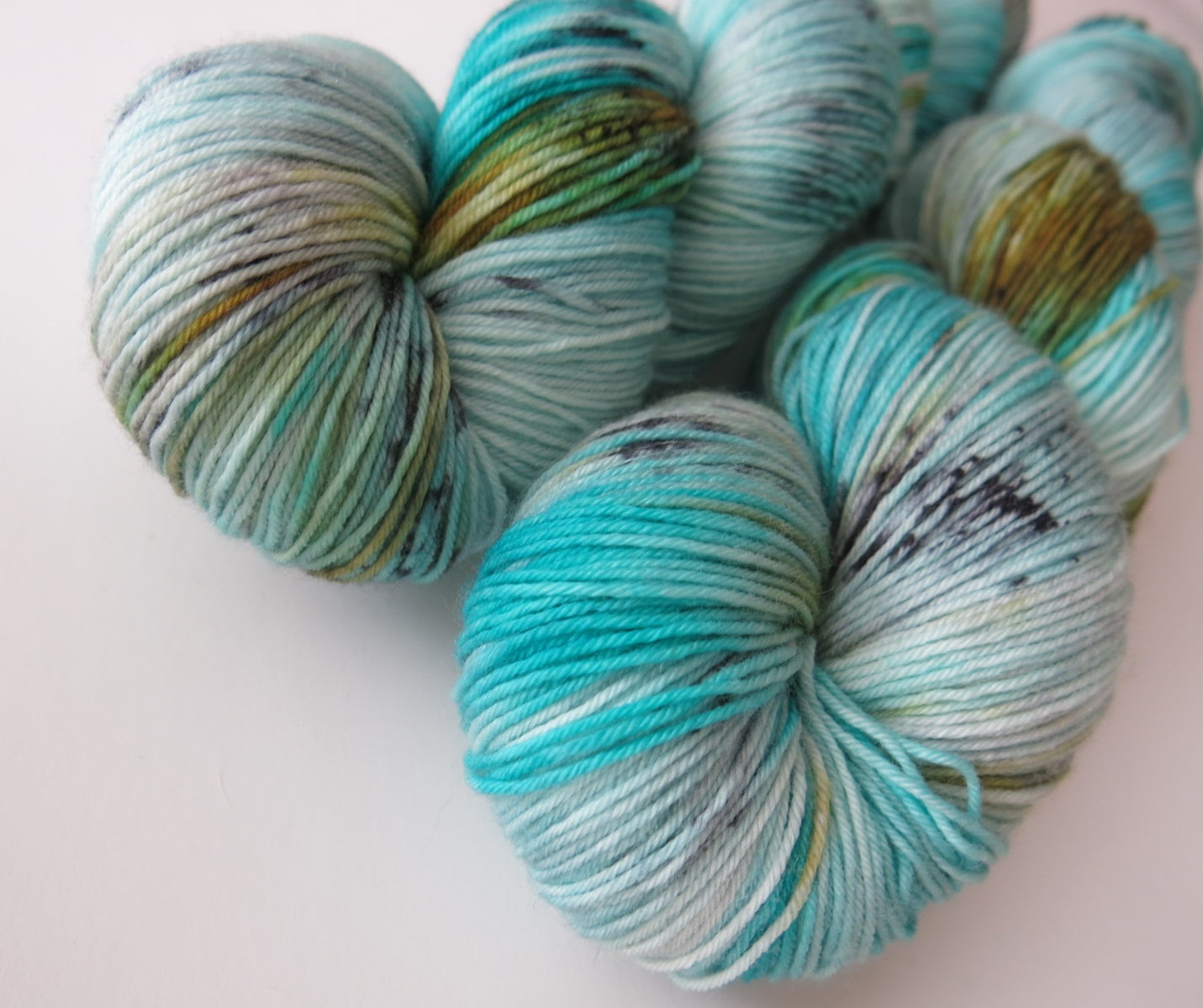 new mexico inspired turquoise yarn skein for knitting and crochet