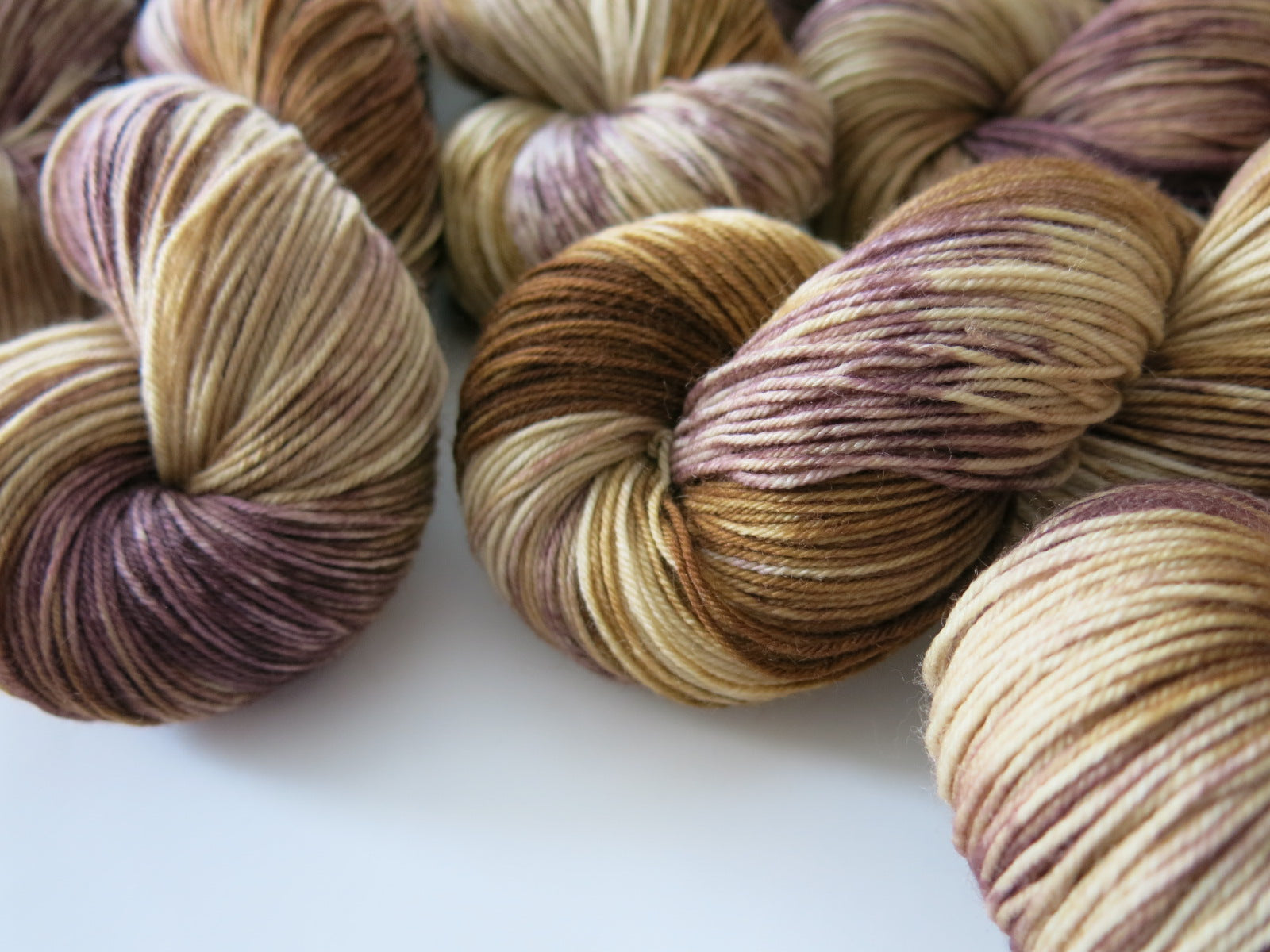fawn brown merino sock yarn for knitting and crochet