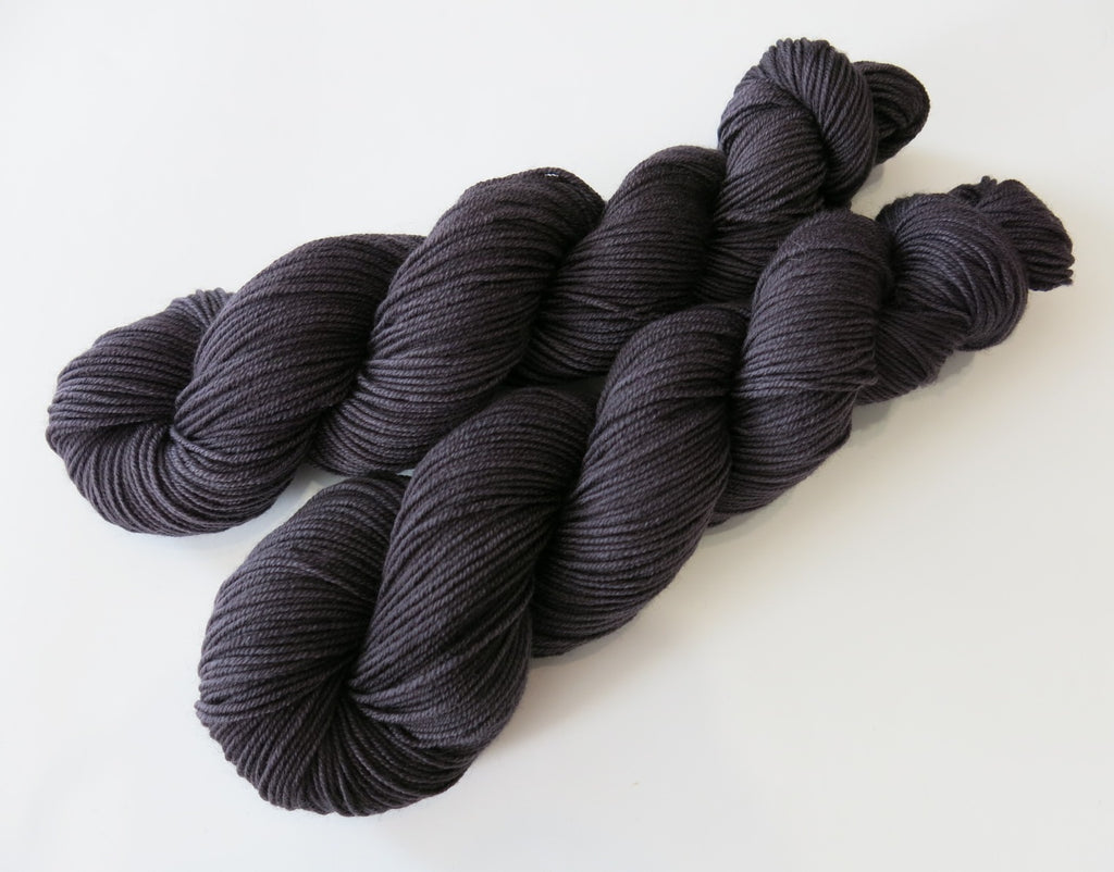 merino dk in black for knitting, crochet and weaving