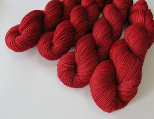 semi solid tonal blood red vampire sock yarn for halloween knitting