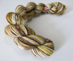 brown and orange black widow spider male inspired yarn for knitting