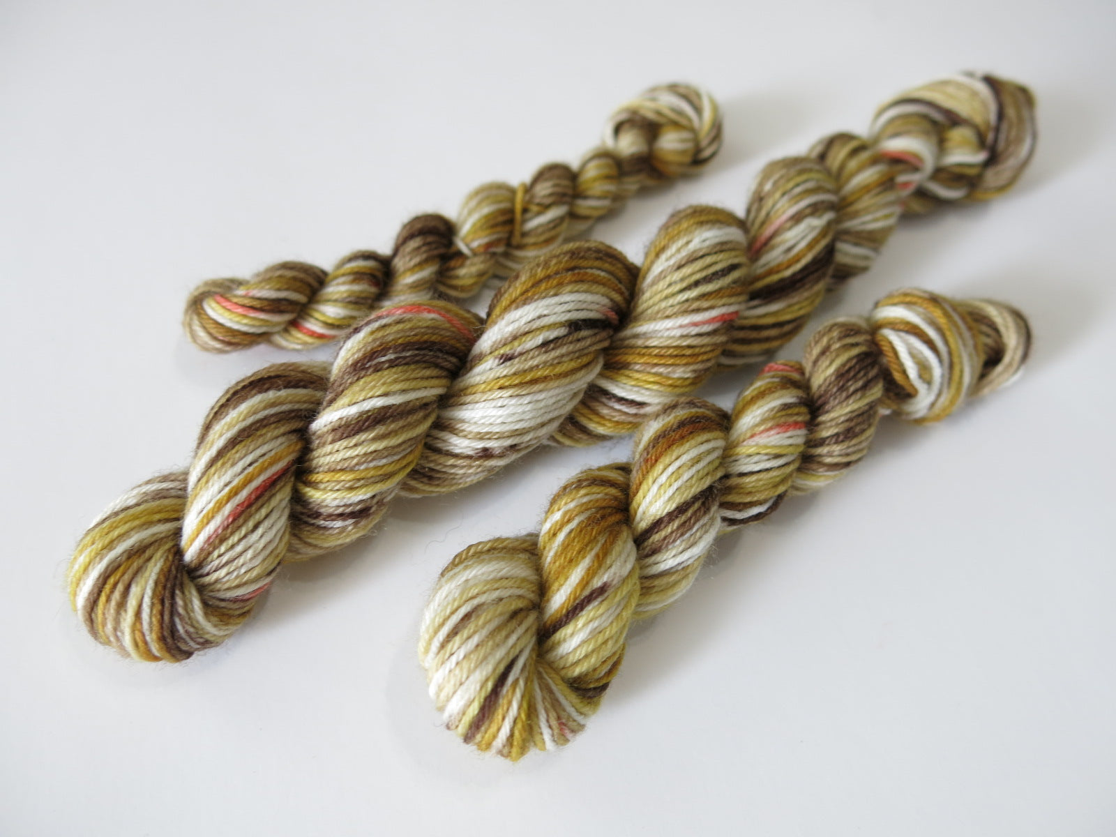 brown and orange black widow spider male inspired mini skeins