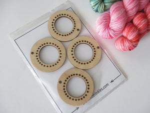 set of 4 birch wood mini loom ornaments for weaving crafts