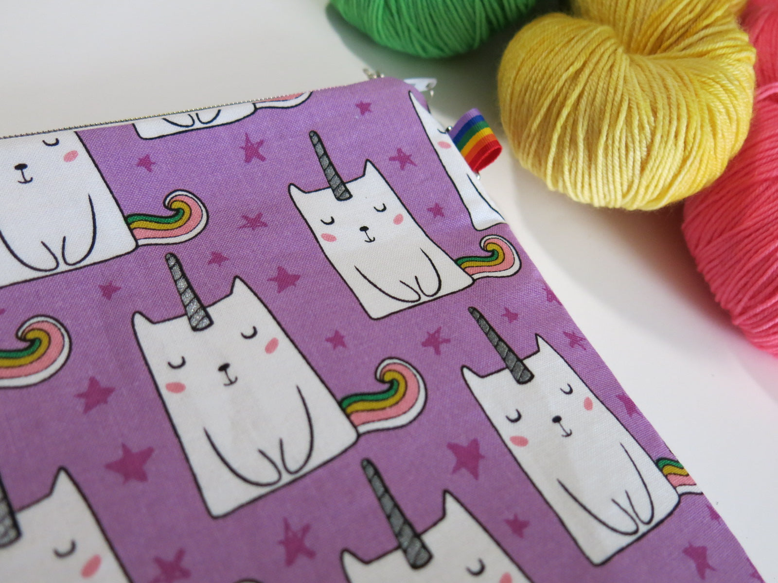 Purple Caticorn Knitting Project Bag