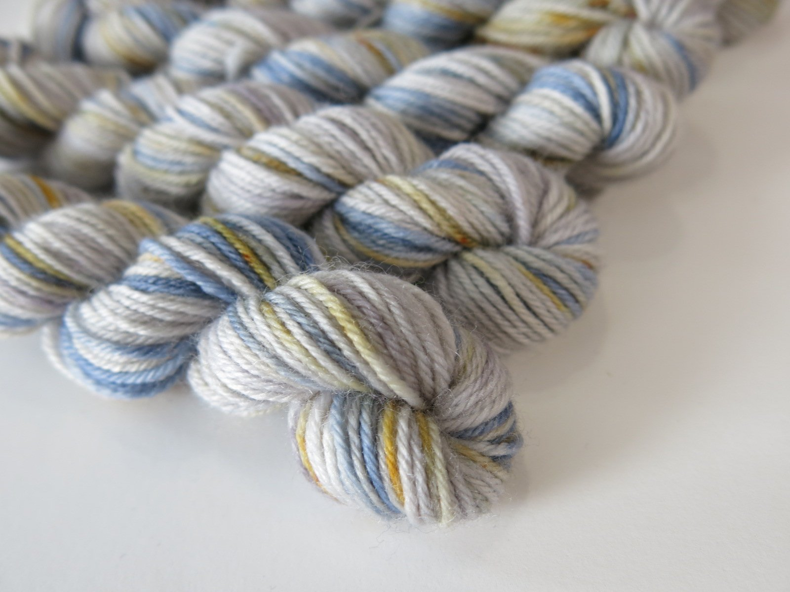 tonal grey 4 ply sock yarn mini skein for wizard of oz lovers