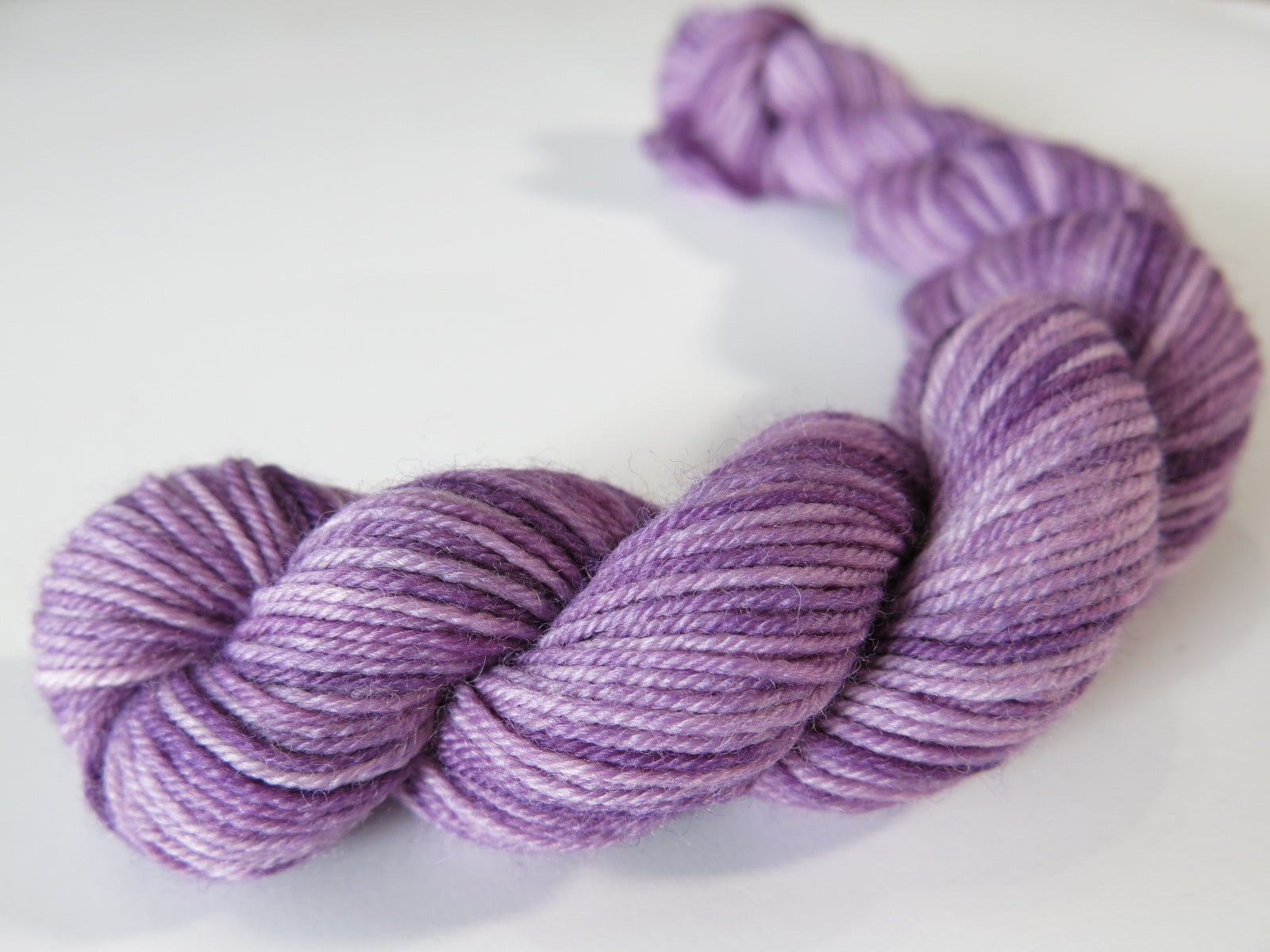 tonal purple sock yarn mini skeins for knitting and crochet