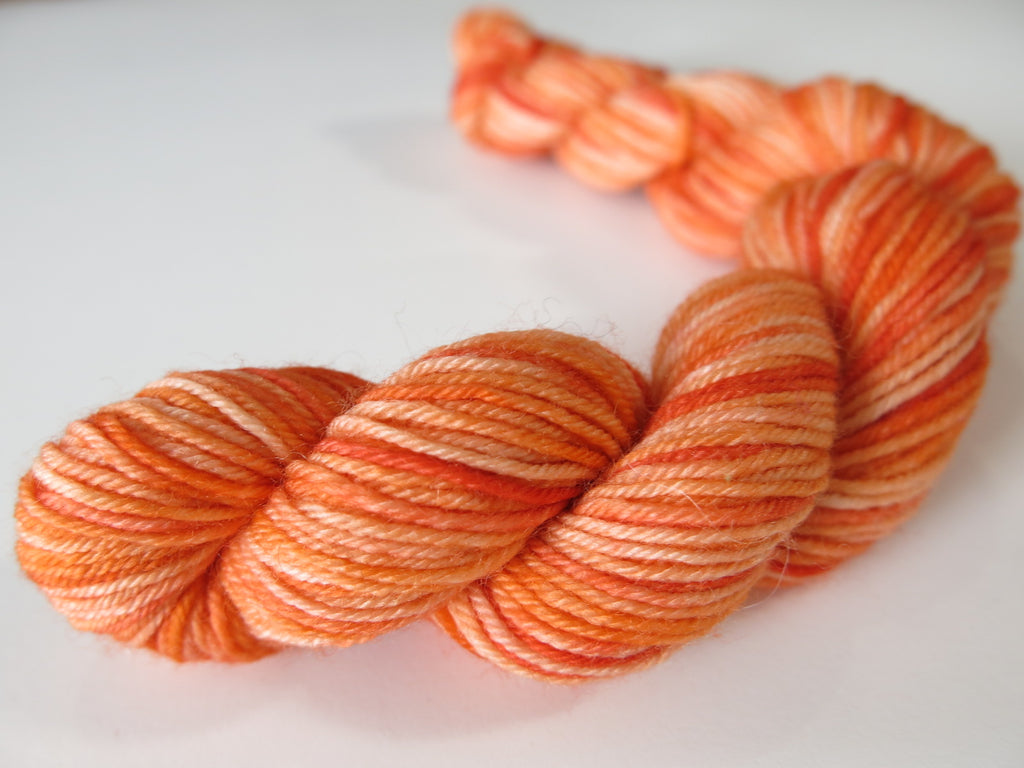 tonal orange sock yarn mini skeins for knitting and crochet