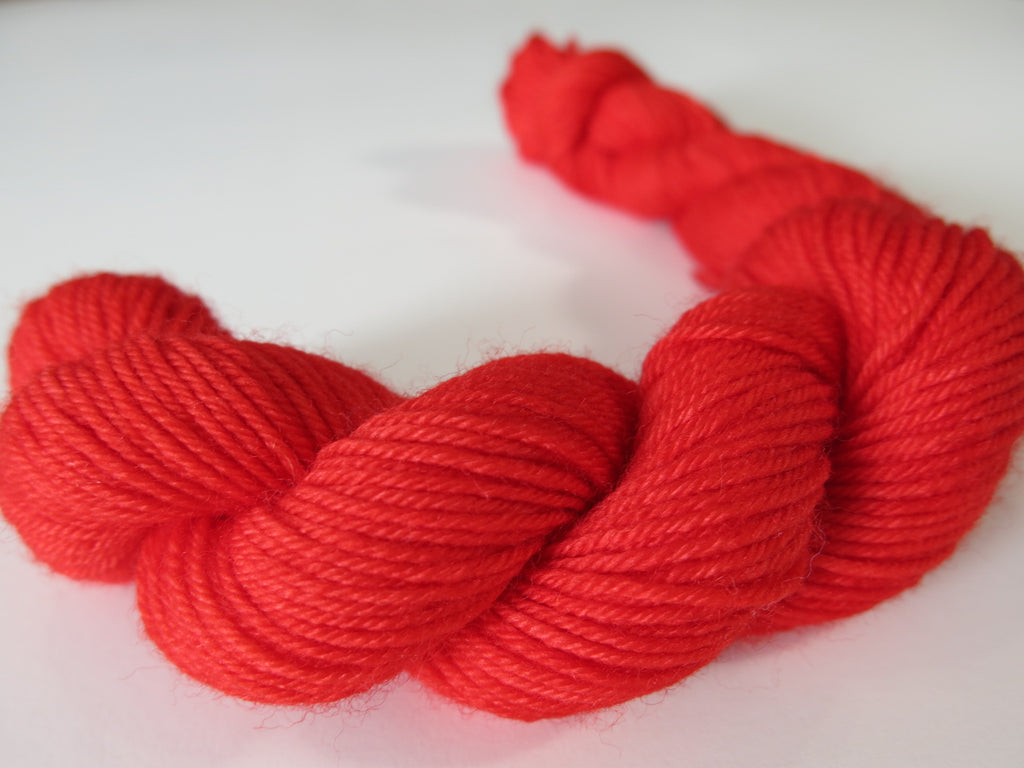 solid red sock yarn mini skeins for knitting and crochet