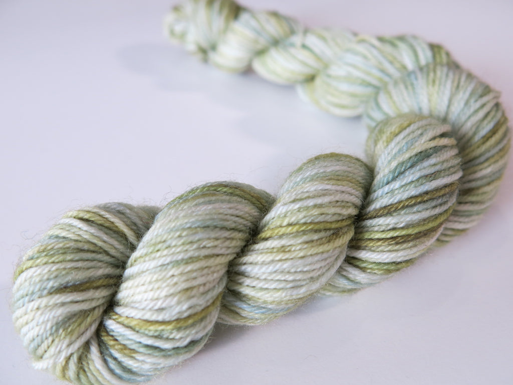 glass green sock yarn mini skeins for knitting and crochet