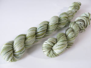 tonal glass green sock yarn mini skeins for knitting and crochet