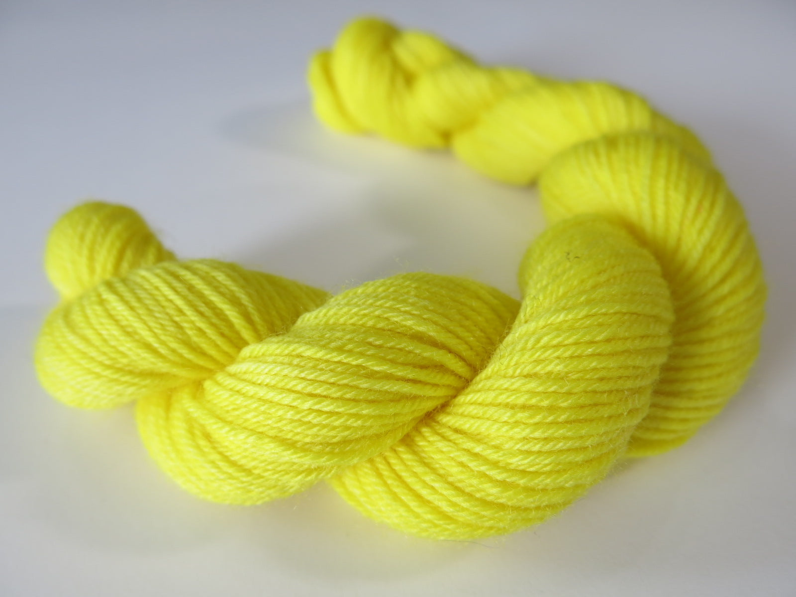 solid yellow sock yarn mini skeins for knitting and crochet