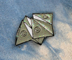 glitter origami fortune teller lapel pin for bags and shirts
