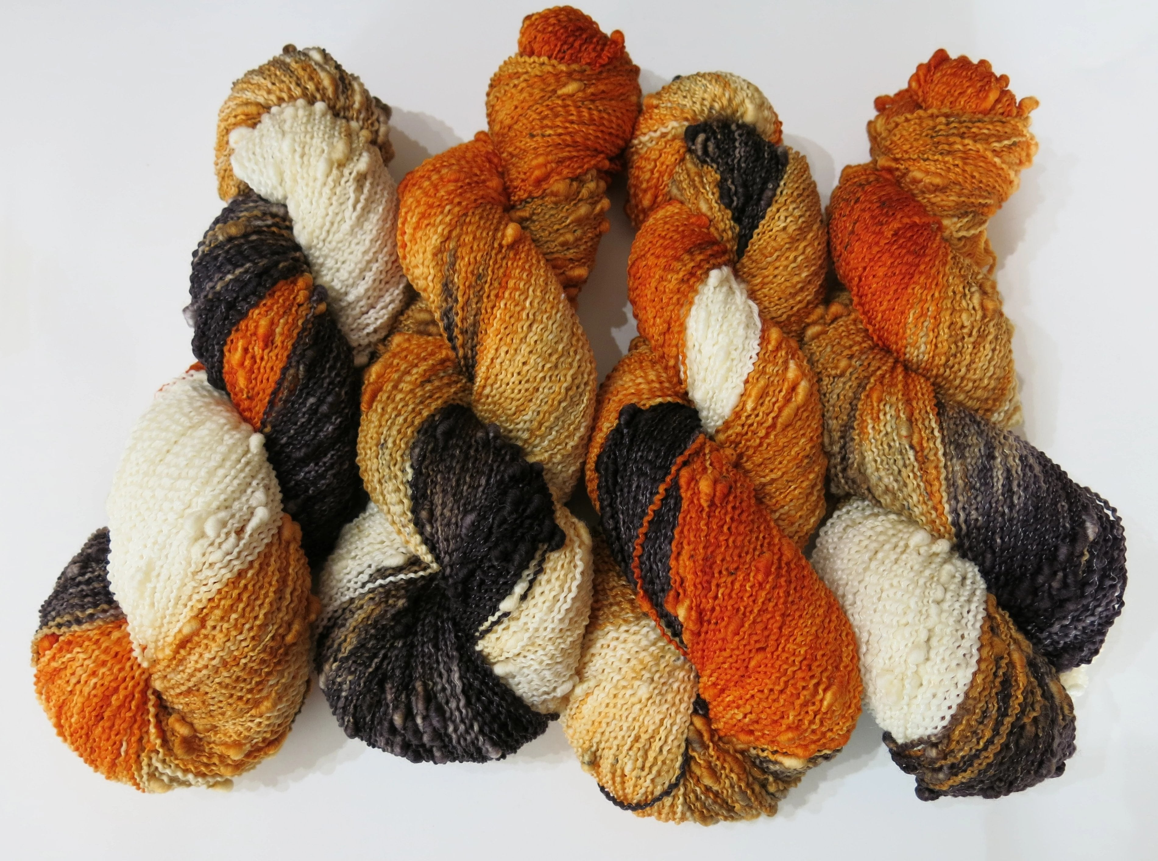 fox colored textured slub merino skeins for knitting and crochet