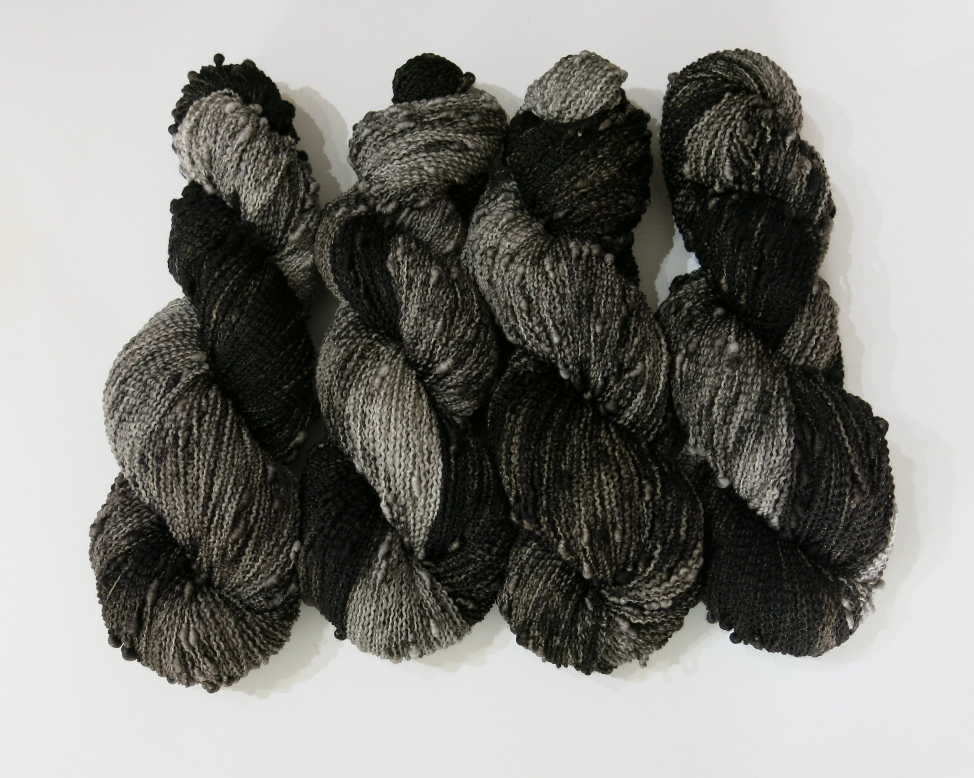 grey and black slub 4 ply for knitting and crochet