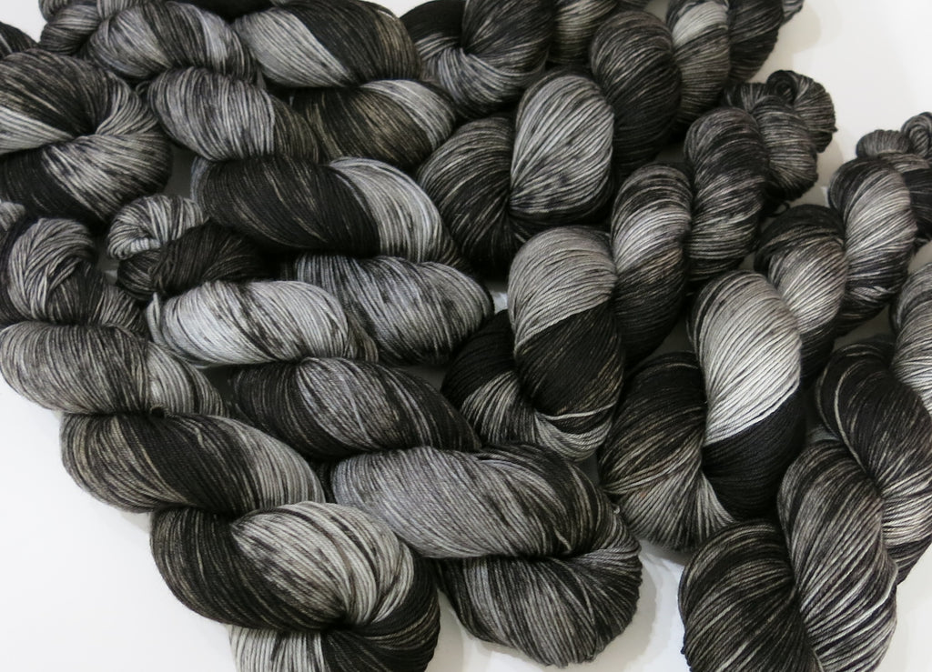the black bull hand dyed yarn by indie dyer my mama knits