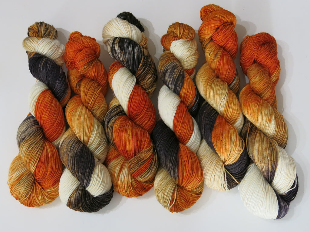folklore fox hand dyed yarn by my mama knits for knitting and crochet