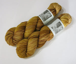 hand dyed tonal brown superwash merino dk wool for knitting and crochet