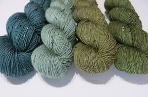 4 x 100g Skein Greens Set on Donnie Sock