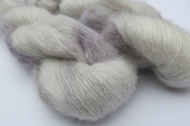 Silver Lining on Float Your Goat - 72/28 Brushed Kid Mohair Silk Lace Singles