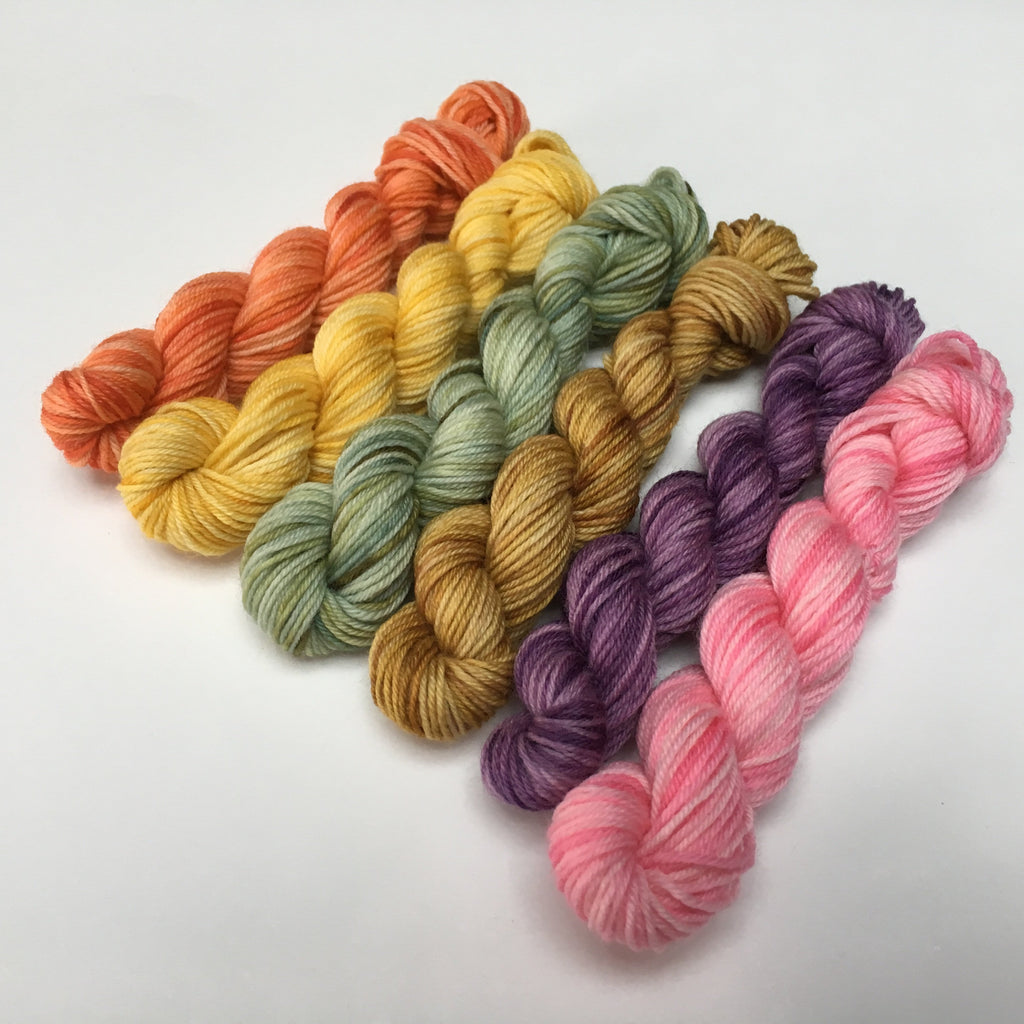 10g sock yarn mini skein set for knitting and crochet