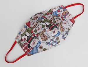 Ready to Ship - Christmas - Cotton Double Layered Face Masks - Fixed Strap - Adult Medium