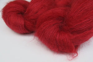 Dracula's Drink on Float Your Goat - 72/28 Brushed Kid Mohair Silk Lace Singles