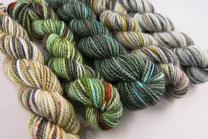 indie dyed yarn skeins inspired by scotland
