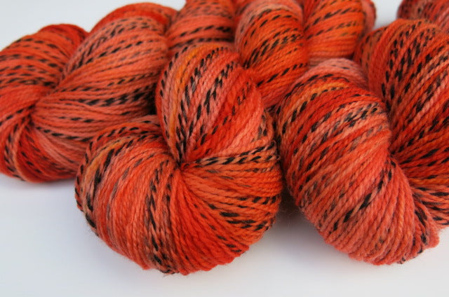 Crepe Paper Pumpkin on Tiger Sock - 100g Skeins or Mini Skeins