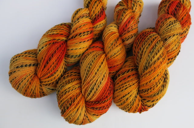 Pumpkin Carving on Tiger Sock - 100g Skeins or Mini Skeins