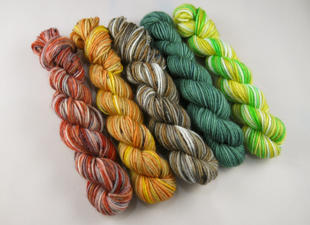 hand dyed alice in wonderland mini skeins