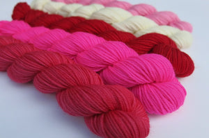 Valentine Mix Mini Skein Set on Choufunga Sock