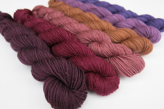 Velvet Parlour Mini Skein Set on Choufunga Sock