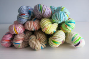 cupcake mega sprinkles mini skein set on patsy dk