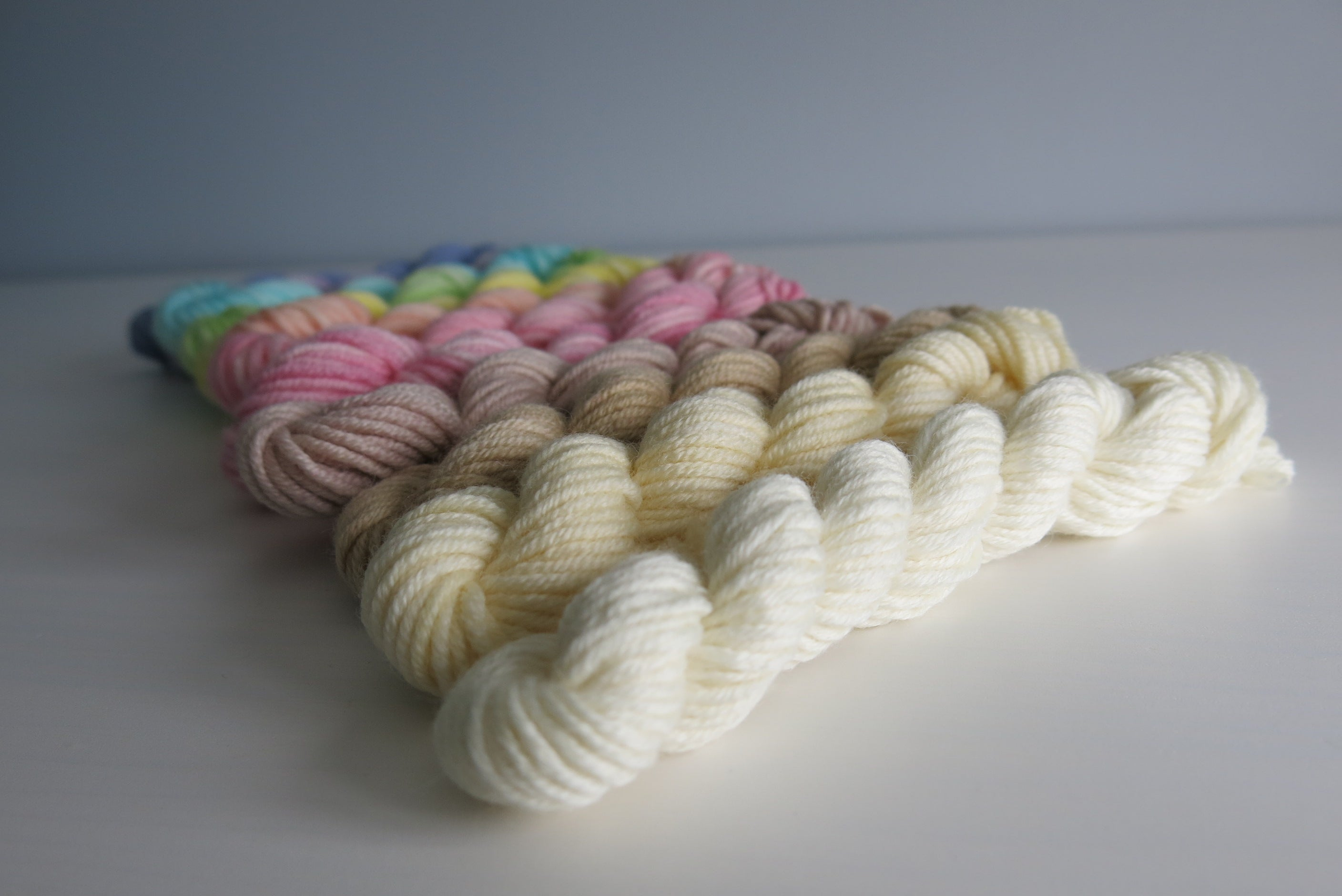 pastel mini skein set for knitting