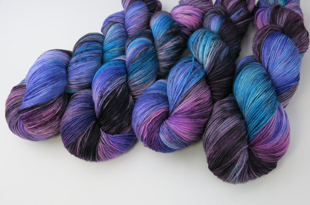 Delphinium Mix on Choufunga Sock
