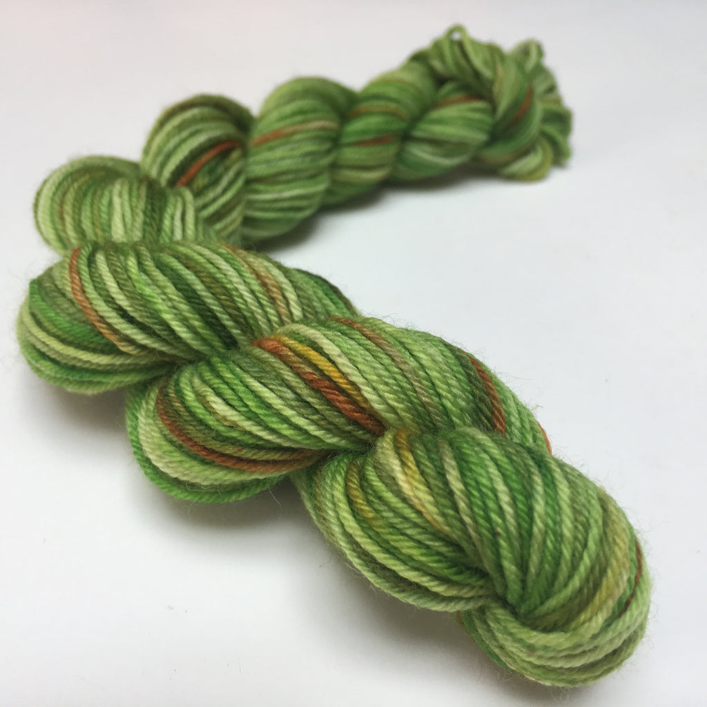 20g mini skin in tonal green for knitting socks and blankets