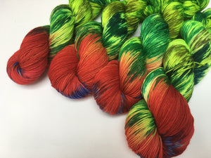 butterfly larva yarn skeins for knitting and crochet