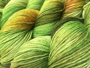 green pear sock yarn inspired by the hungry caterpillar