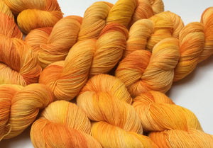 indie dyed yarn inspired by the hungry caterpillar