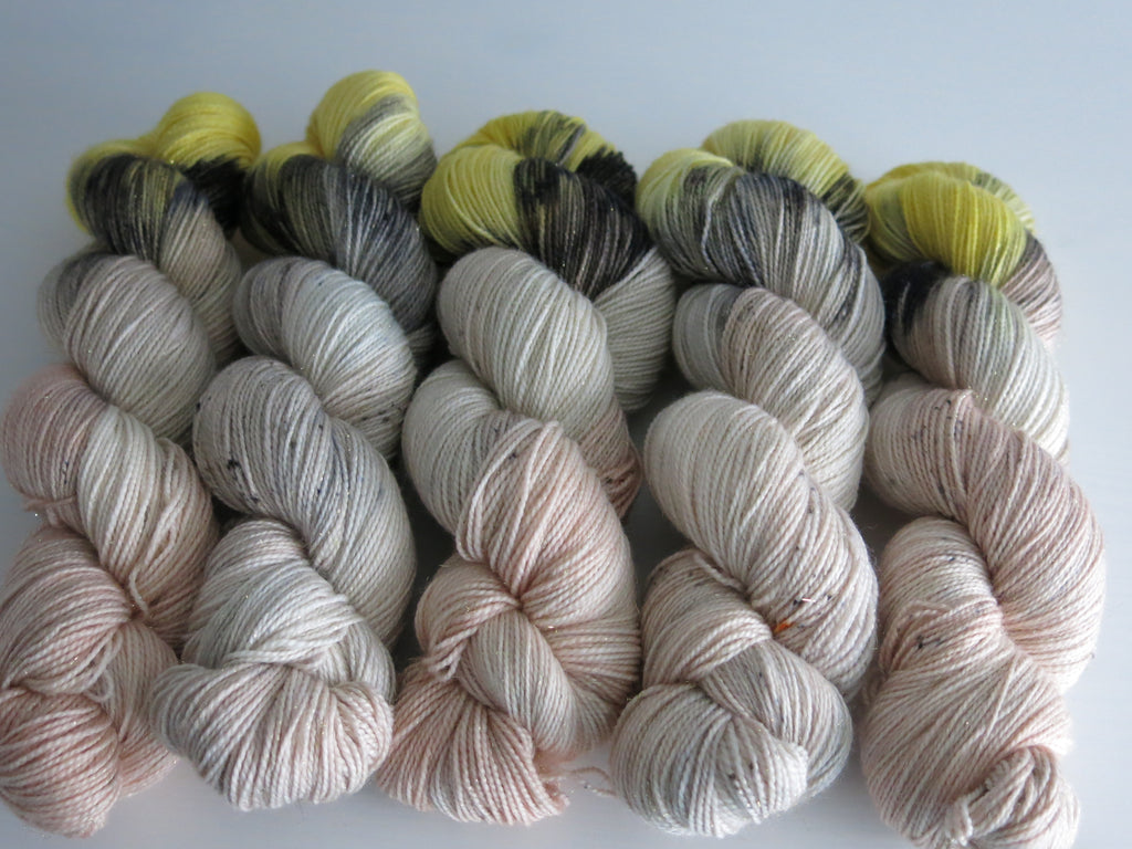 leg lamp sparkly merino sock yarn skeins