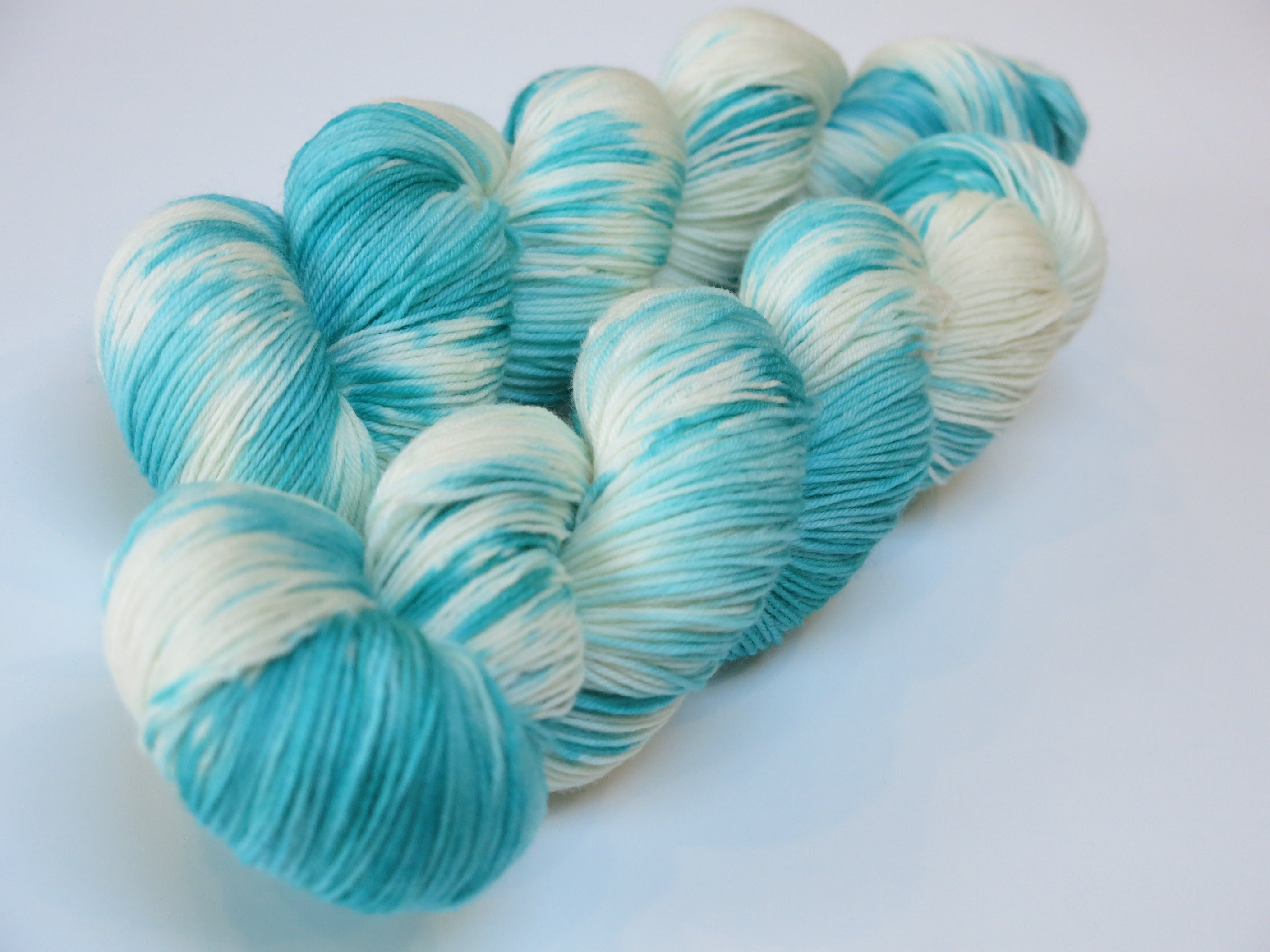 hand dyed superwash merino with nylon choufunga sock yarn