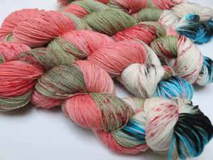 speckled yarn skein by indie dyer my mama knits