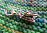 stitch marker army tank charm for knitting and crochet