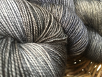 hand dyed tonal black and gray british sock wool