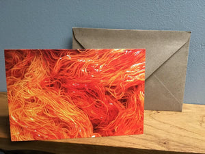 orange indie dyed yarn knitters greeting card stationary set